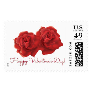 Valentine's day red rose postage