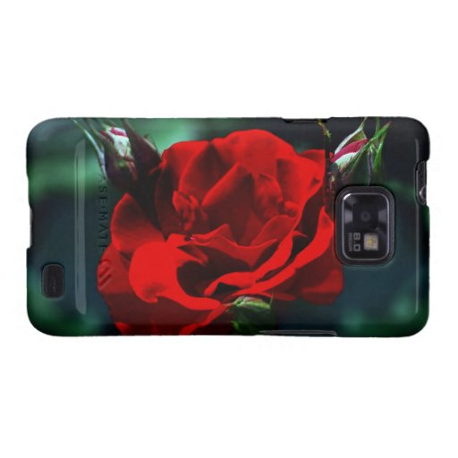 Valentines day red rose samsung galaxy SII covers