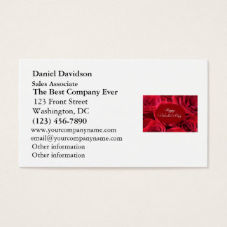 Valentine's Day Red Roses Business Card