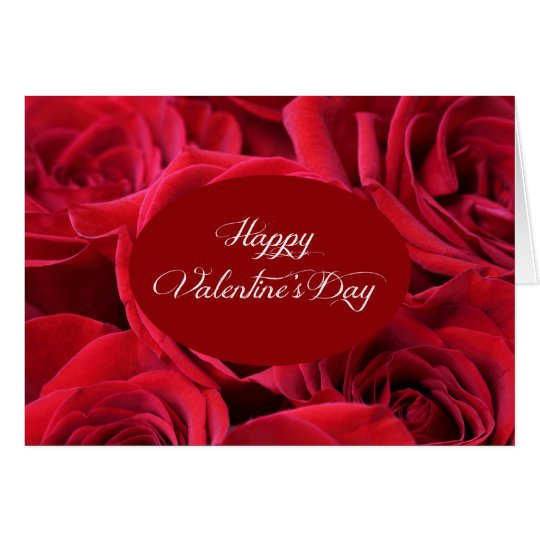 Valentine's Day Red Roses Card
