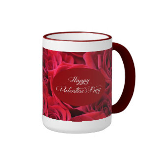 Valentine's Day Red Roses Coffee Mugs