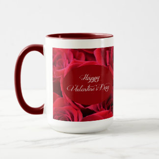 Valentine's Day Red Roses Mug
