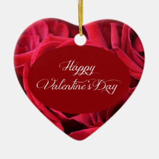 Valentine's Day Red Roses Ornament