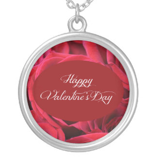 Valentine's Day Red Roses Personalized Necklace