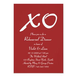 Valentine's Day Rehearsal Dinner Invitation
