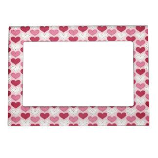 Valentine's Day Retro Heart Pattern Magnetic Photo Frame