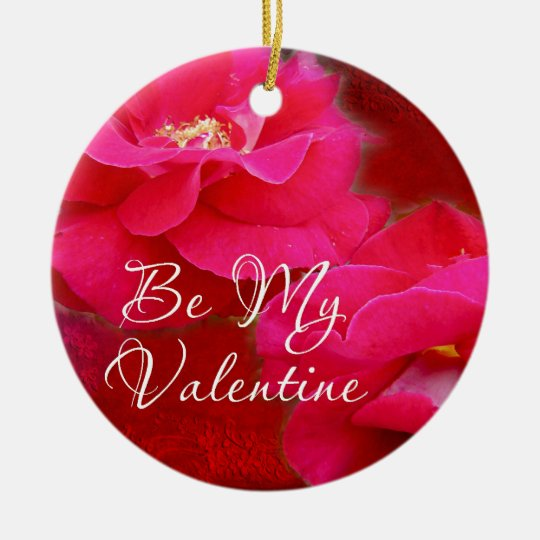 Valentine's Day - Romance and Red Roses Ceramic Ornament
