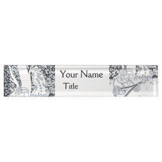 VALENTINE'S DAY ROMANCE,ROMANTIC LOVERS IN NATURE NAME PLATE