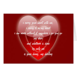 Valentine's Day Romantic Heart Within Heart Card