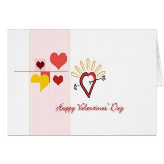 Valentine's Day Romantic Hearts Card