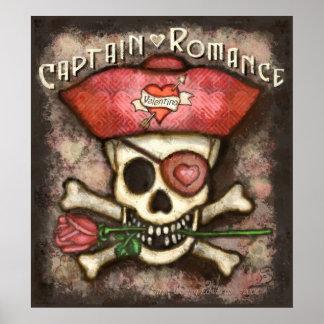 Valentine's Day Romantic Pirate Poster