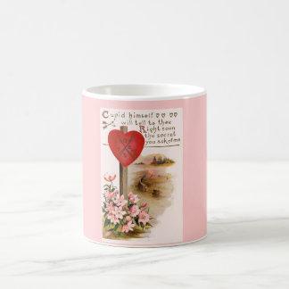 Valentine's Day Romantic Verse Heart Floral Mug