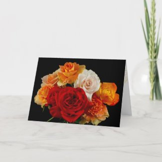 Valentine's Day Roses Greeting Card