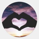 valentine's day round sticker