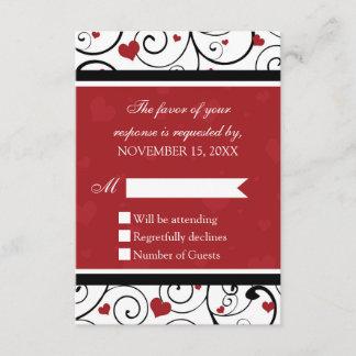 Valentine's Day RSVP Wedding Card