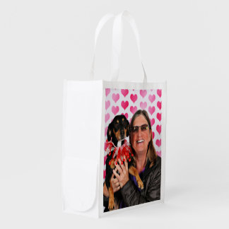Valentine's Day - Sadie - Dachshund Reusable Grocery Bag