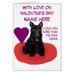 Valentine's Day Scottish Terrier Customizable Card