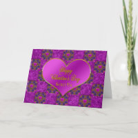 Valentine's Day - SECRET PAL - Hearts/Purple/Pink Holiday Card