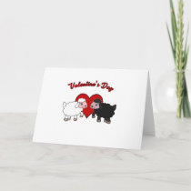 Valentines day - Sheep Holiday Card