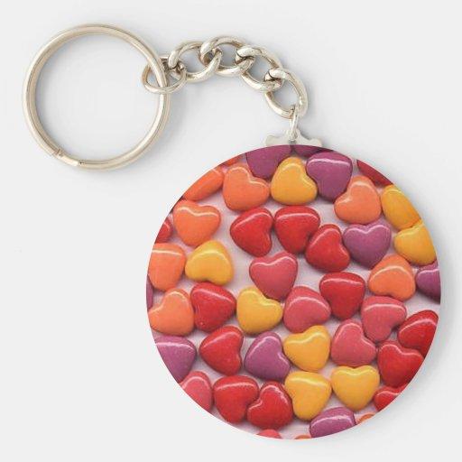 Valentine's Day Shiny Candy Hearts Key Chain