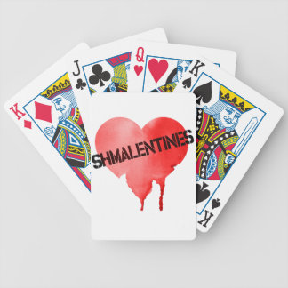Valentine's Day Shmalentine's Day Bicycle Playing Cards