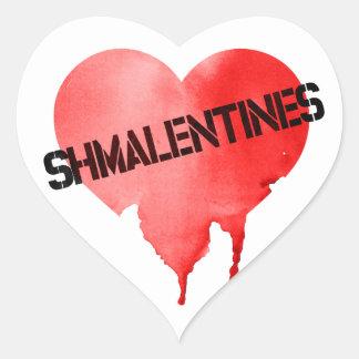 Valentine's Day Shmalentine's Day Heart Sticker