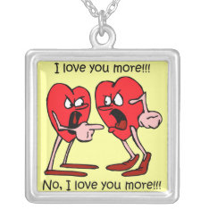 Valentine's Day Silver Plated Necklace at Zazzle
