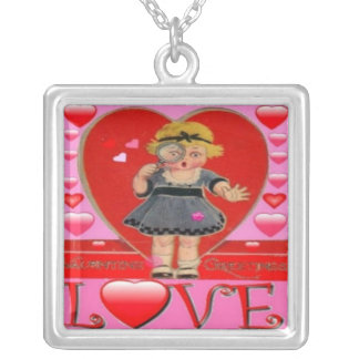 VALENTINES DAY SILVER PLATED NECKLACE - GIFTS