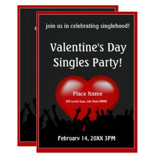 Valentine's Day Singles Party Invitation