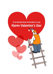 Valentine's Day Sister & Brother In Law Cards