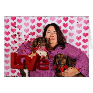 Valentine's Day - Skippy & Zelda - Dachshunds Card