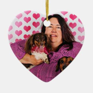 Valentine's Day - Skippy & Zelda - Dachshunds Ceramic Ornament
