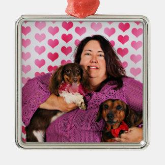 Valentine's Day - Skippy & Zelda - Dachshunds Metal Ornament