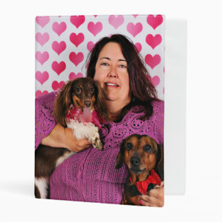 Valentine's Day - Skippy & Zelda - Dachshunds Mini Binder