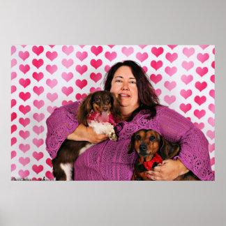 Valentine's Day - Skippy & Zelda - Dachshunds Poster