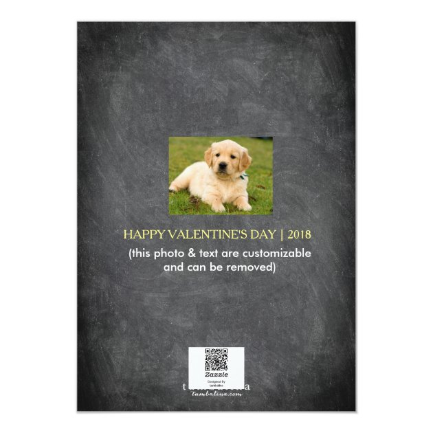 Valentine's Day Snapshots Heart 5x7 Paper Invitation Card (back side)