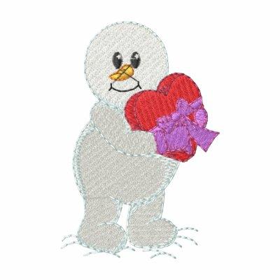 Valentines Day Snowman