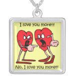 Valentine's Day Square Pendant Necklace