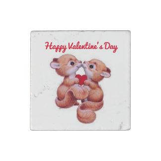 Valentine's Day Squirrels Stone Magnet