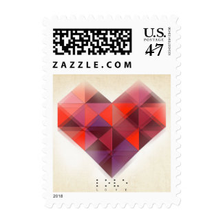 Valentine's Day Stamp Love and Hearts in Braille