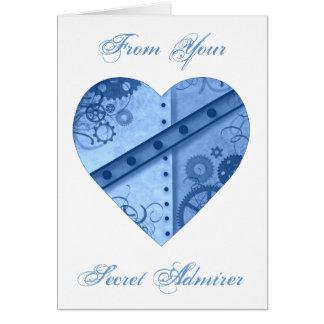 Valentine's Day steampunk heart secret admirer Card