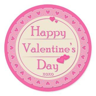 """Valentine's Day Stickers - """"Happy Valentine's Day"""""""