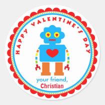 Valentine's Day Stickers Robot Stickers