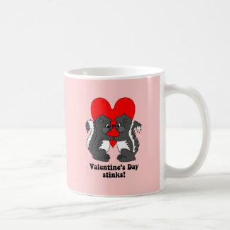 Valentine's day stinks coffee mug