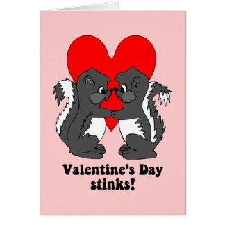 Valentine's day stinks greeting card