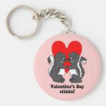 Valentine's day stinks keychains