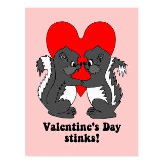 Valentine's day stinks postcard