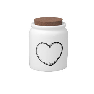 Valentine's Day Stitched Heart Candy Dish