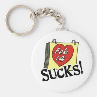 Valentine's Day Sucks Key Chains