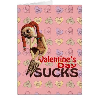 valentines day sucks sad girl greeting card